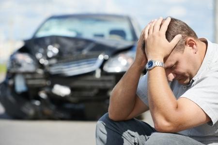 Man has headache after a crash
